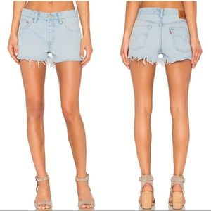 Levi's Classic 501 Denim Button Fly Shorts Size 28